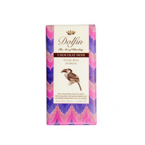 Тёмный шоколад с розовым перцем, 30 гр.