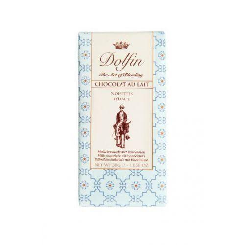 Молочный шоколад с фундуком, 30 гр.