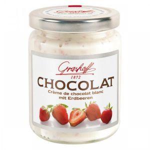 Шоколадный крем белый с клубникой, 250 гр.