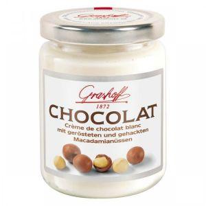 Шоколадный крем белый с орешками макадамия, 235 гр.