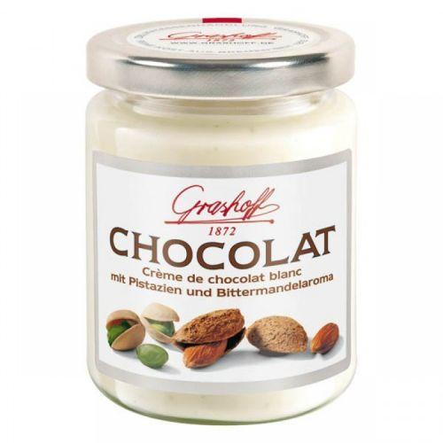 Шоколадный крем белый с фисташками и миндалем, 235 гр.