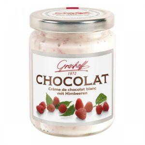Шоколадный крем белый с малиной, 250 гр.