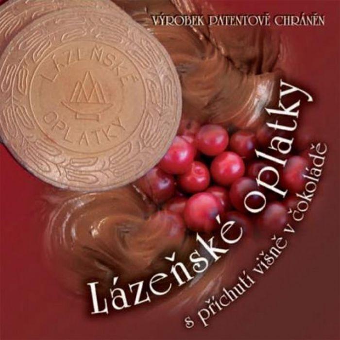 Вафли (оплатки) с вишнево-шоколадной начинкой, 175 гр.