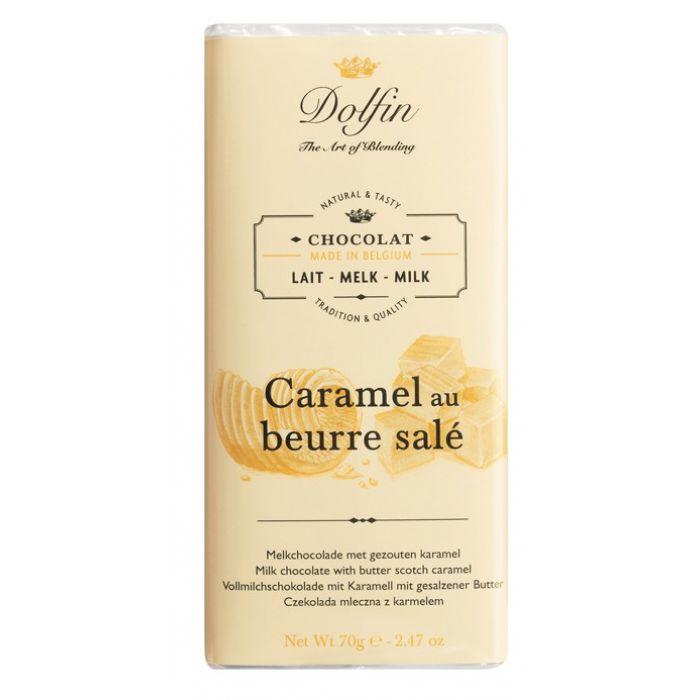 Молочный шоколад с карамелью и солёным маслом, 70 гр.