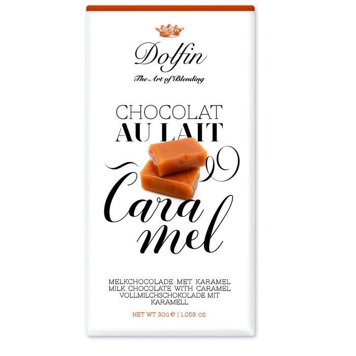 Молочный шоколад с карамелью, 30 гр.